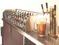 Beer Tap with bottles